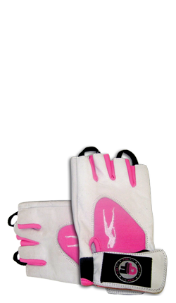 Pink Fit Gants (blanc-rose)
