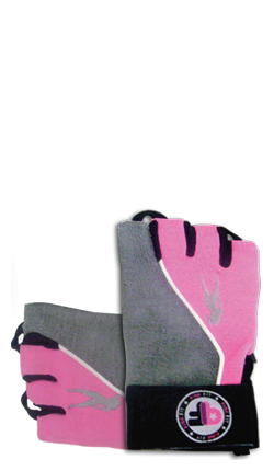 Pink Fit Gants (gris-rose)